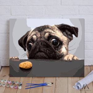 "DIY Painting By Numbers - Dog And Cake (16""x20"" / 40x50cm)"