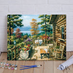 "DIY Painting By Numbers - Garden (16""x20"" / 40x50cm)"