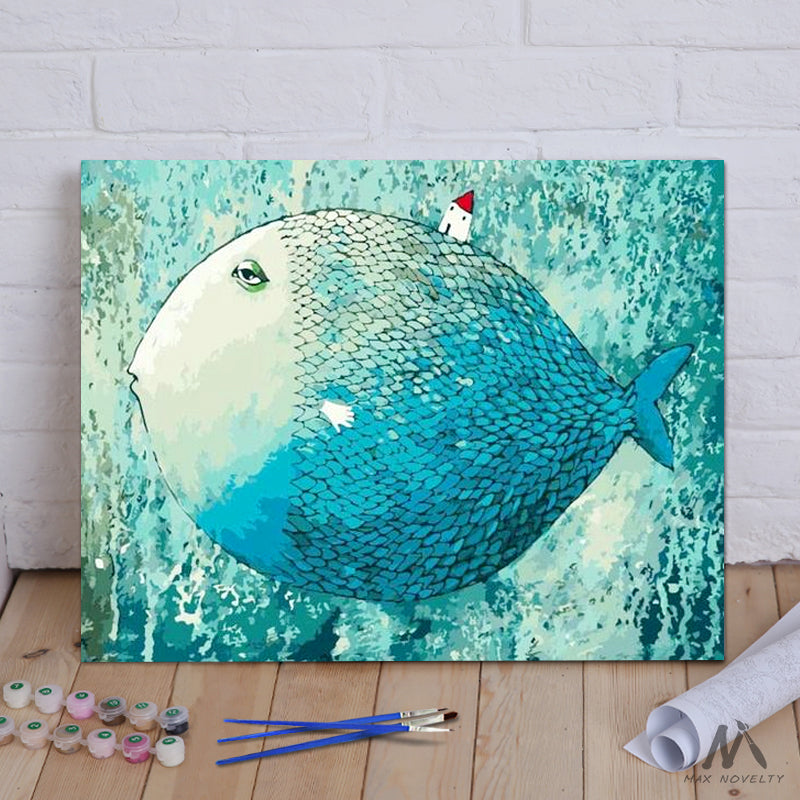 "DIY Painting By Numbers - Sleeping Fish (16""x20"" / 40x50cm)"