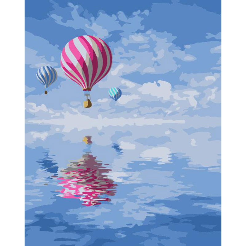 "DIY Painting By Numbers - Balloons Over Water (16""x20"" / 40x50cm)"