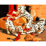 "DIY Painting By Numbers -  Dalmatians  (16""x20"" / 40x50cm)"