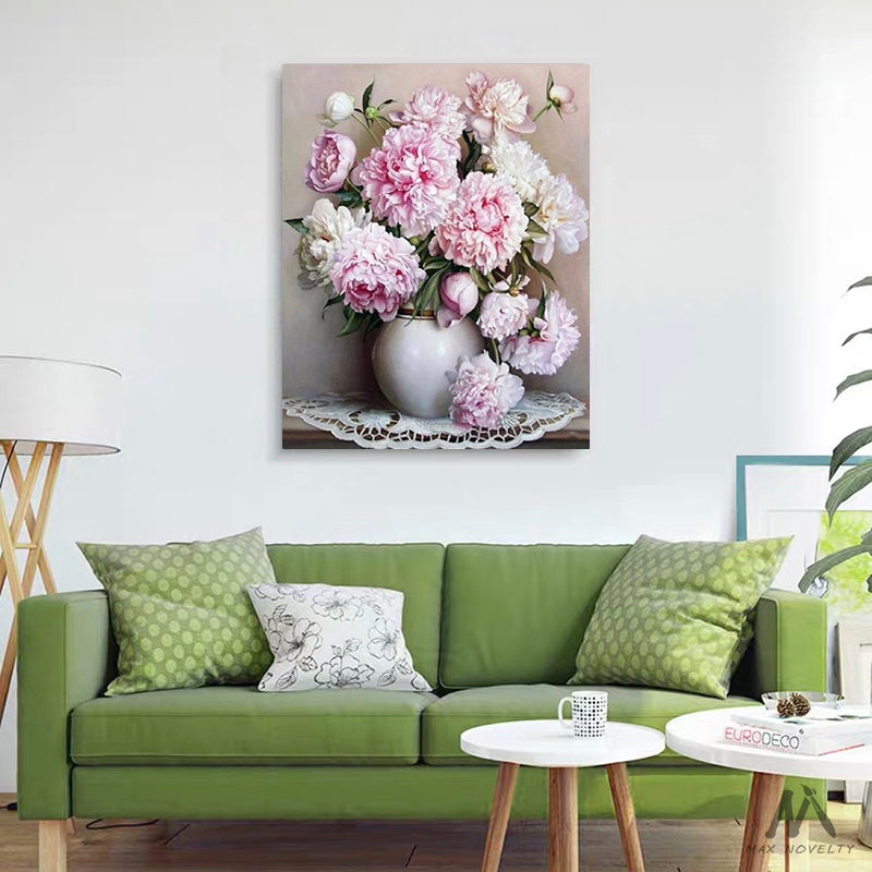"DIY Painting By Numbers -  Peonies (16""x20"" / 40x50cm)"