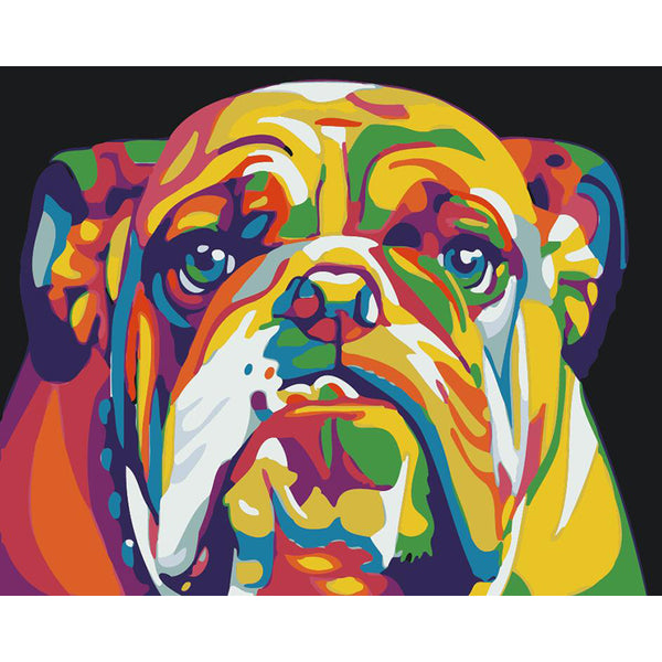 "DIY Painting By Numbers - Colorful Dog(16""x20"" / 40x50cm)"