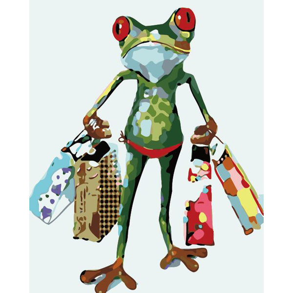 "DIY Painting By Numbers - Frog Shopping(16""x20"" / 40x50cm)"