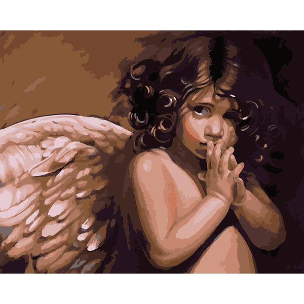 "DIY Painting By Numbers -  Angel  (16""x20"" / 40x50cm)"