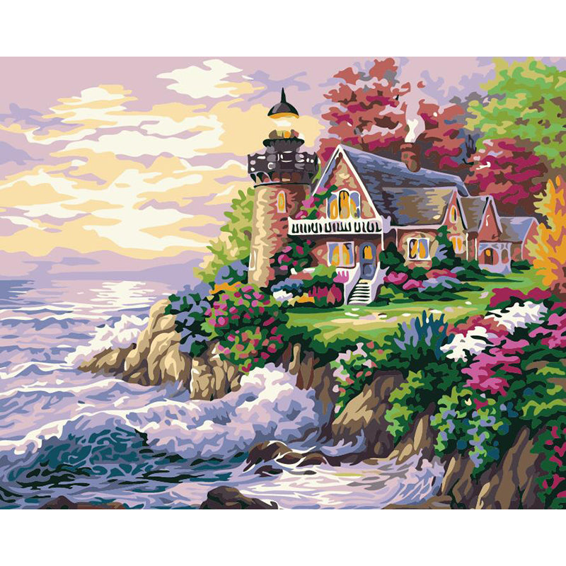 "DIY Painting By Numbers - Lake House (16""x20"" / 40x50cm)"