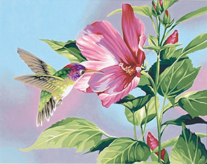 "DIY Painting By Numbers -Flower With Bird (16""x20"" / 40x50cm)"