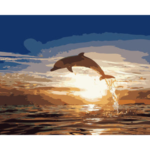 "DIY Painting By Numbers - Dolphin  (16""x20"" / 40x50cm)"
