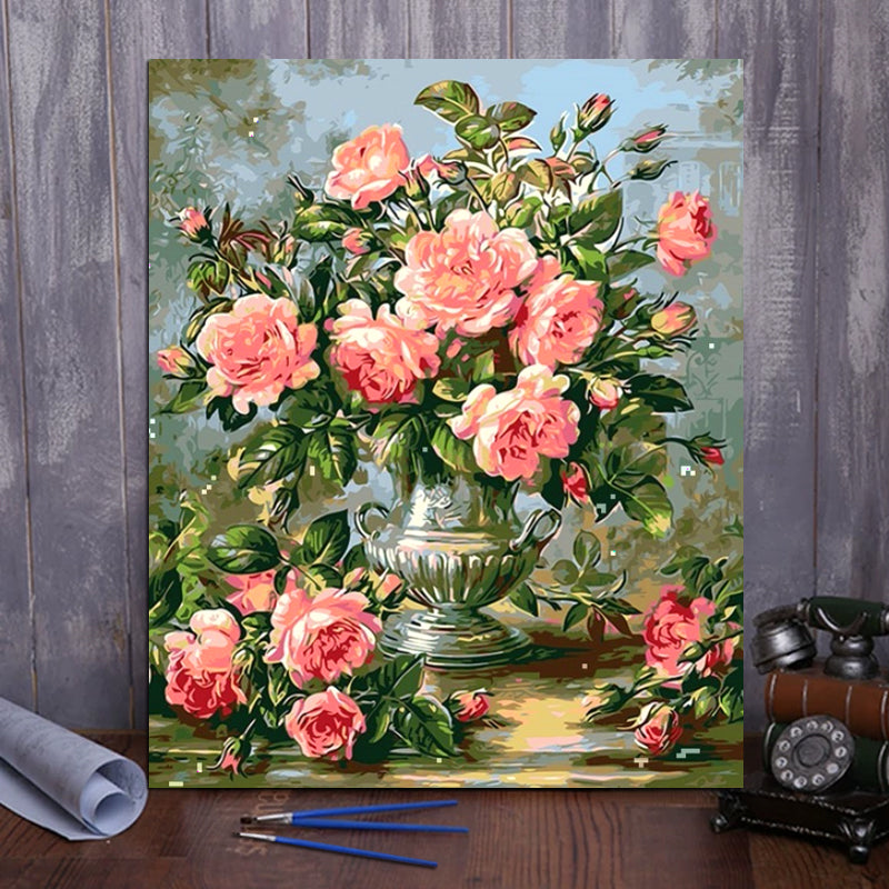 "DIY Painting By Numbers - Roses (16""x20"" / 40x50cm)"