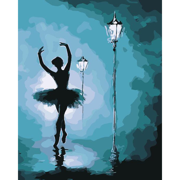"DIY Painting By Numbers - Beautiful Ballet Dancer (16""x20"" / 40x50cm)"