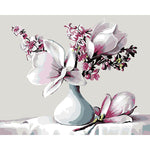 "DIY Painting By Numbers - Magnolia Flower  (16""x20"" / 40x50cm)"