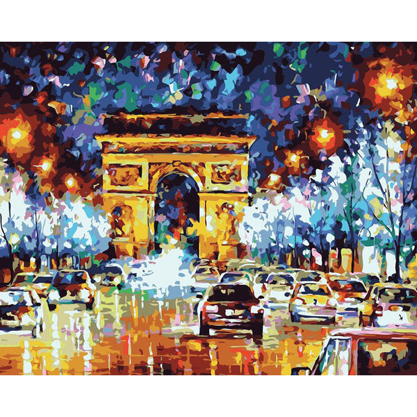 "DIY Painting By Numbers - Champs Elysees Paris(16""x20"" / 40x50cm)"