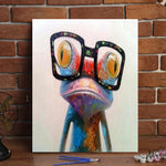 "DIY Painting By Numbers - Frog (16""x20"" / 40x50cm)"