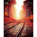 "DIY Painting By Numbers - Railway (16""x20"" / 40x50cm)"