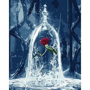 "DIY Painting By Numbers -  Rose In Bottle (16""x20"" / 40x50cm)"