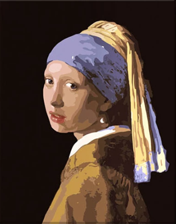 "DIY Painting By Numbers -Girl With A Pearl Earring  (16""x20"" / 40x50cm)"