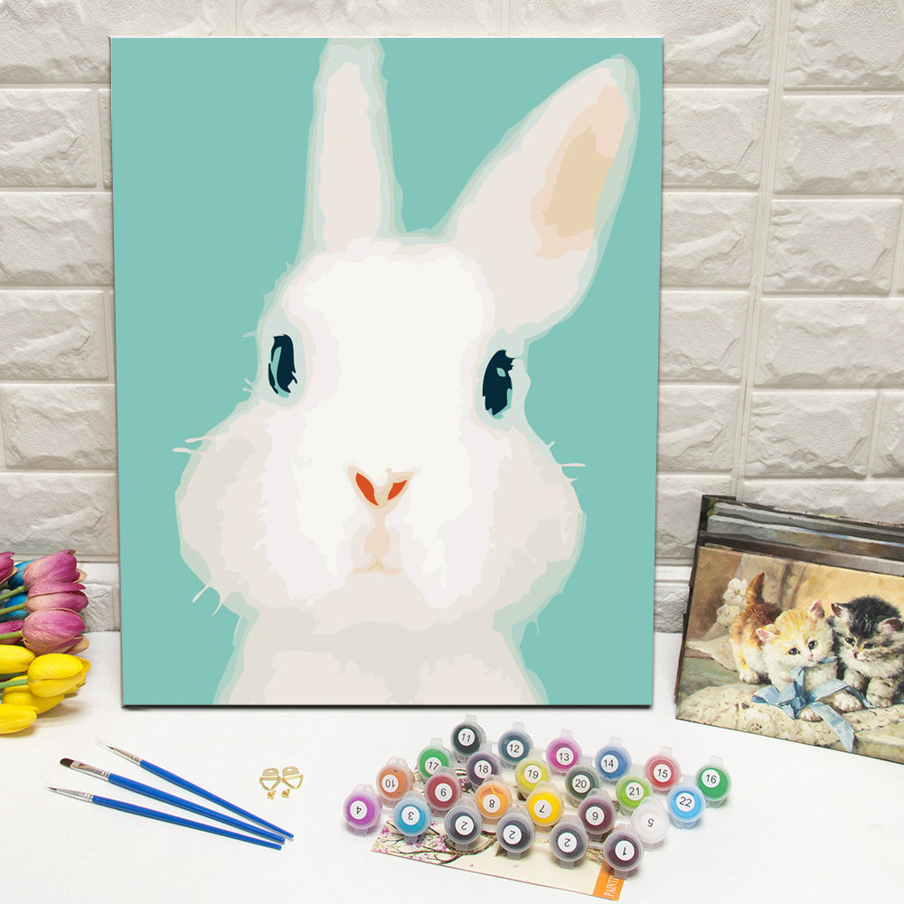 "DIY Painting By Numbers -Bunny (16""x20"" / 40x50cm)"