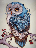 "DIY Painting By Numbers -Cartoon Owl  (16""x20"" / 40x50cm)"