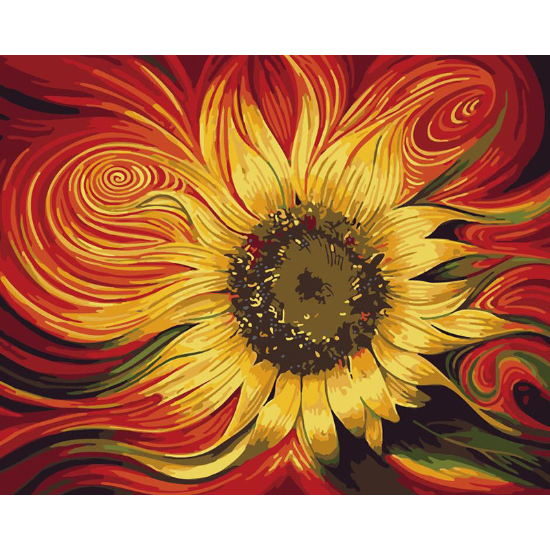"DIY Painting By Numbers - Sun Flower (16""x20"" / 40x50cm)"