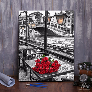 "DIY Painting By Numbers - Red Roses (16""x20"" / 40x50cm)"