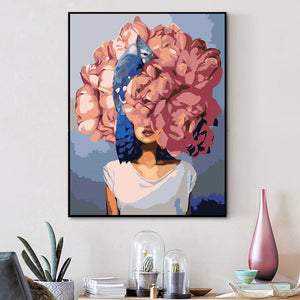 "DIY Painting By Numbers - Flower Woman(16""x20"" / 40x50cm)"