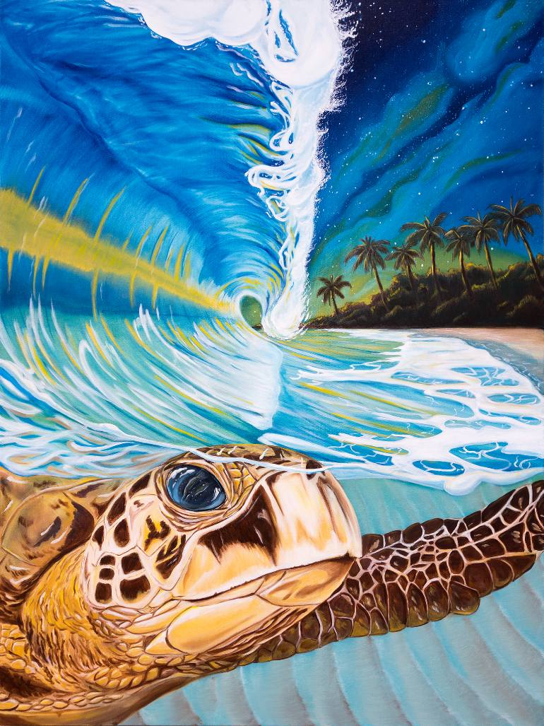 Diy Painting By Numbers Sea Turtle 16 Quot X20 Quot 40x50cm Max Novelty