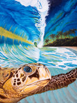 "DIY Painting By Numbers -  Sea turtle (16""x20"" / 40x50cm)"