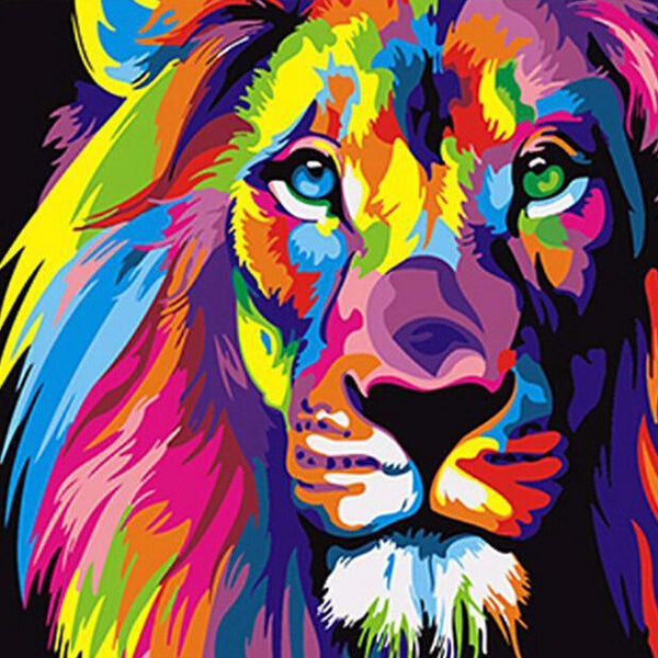 "DIY Painting By Numbers - Colorful Lion (16""x20"" / 40x50cm)"