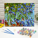 "DIY Painting By Numbers -Irises Flower (16""x20"" / 40x50cm)"