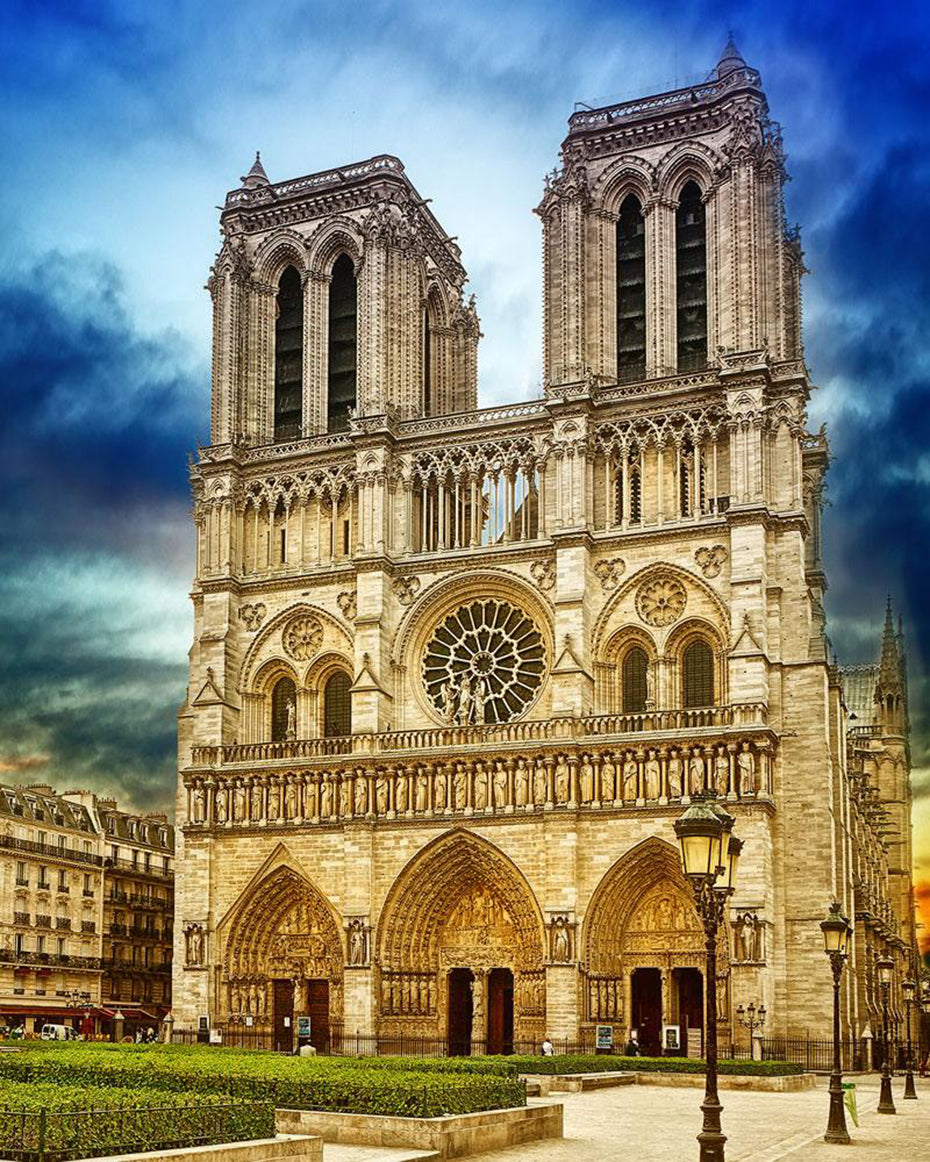 No Frame Abstract Notre Dame de Paris 16x20 inches Number Painting Anti Stress Toys ABEUTY DIY Paint by Numbers for Adults Beginner