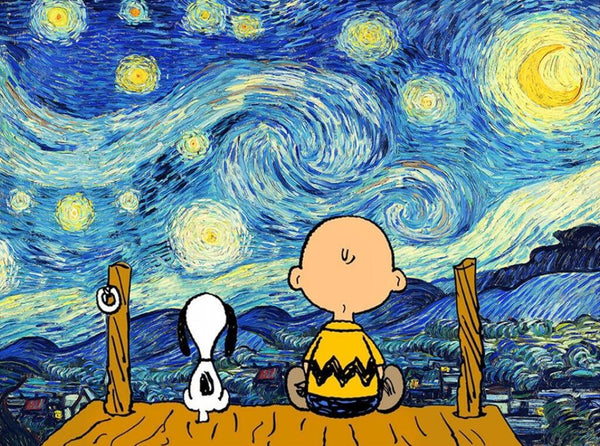 DIY Painting By Numbers -  Snoopy and Charlie Brown