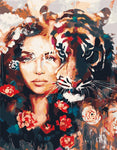"DIY Painting By Numbers -  In Me The Tiger Sniff The Rose (16""x20"" / 40x50cm)"
