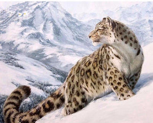 "DIY Painting By Numbers - Snow Leopard (16""x20"" / 40x50cm)"
