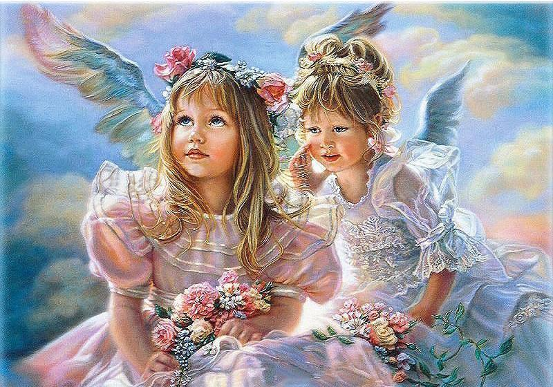 "DIY Painting By Numbers - Angel Girls (16""x20"" / 40x50cm)"