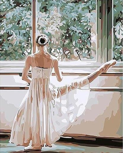 "DIY Painting By Numbers - Ballet Dancer (16""x20"" / 40x50cm)"