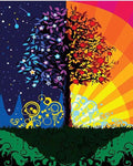 "DIY Painting By Numbers - Colorful Tree (16""x20"" / 40x50cm)"
