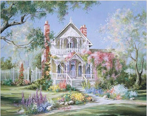 "DIY Painting By Numbers - Romantic House (16""x20"" / 40x50cm)"