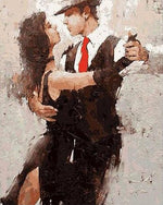"DIY Painting By Numbers - Abstract Passionate Tango (16""x20"" / 40x50cm)"