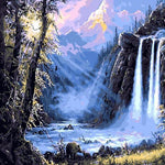 "DIY Painting By Numbers - Fairyland Waterfall (16""x20"" / 40x50cm)"