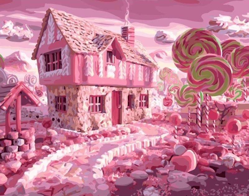 "DIY Painting By Numbers - Candyland (16""x20"" / 40x50cm)"
