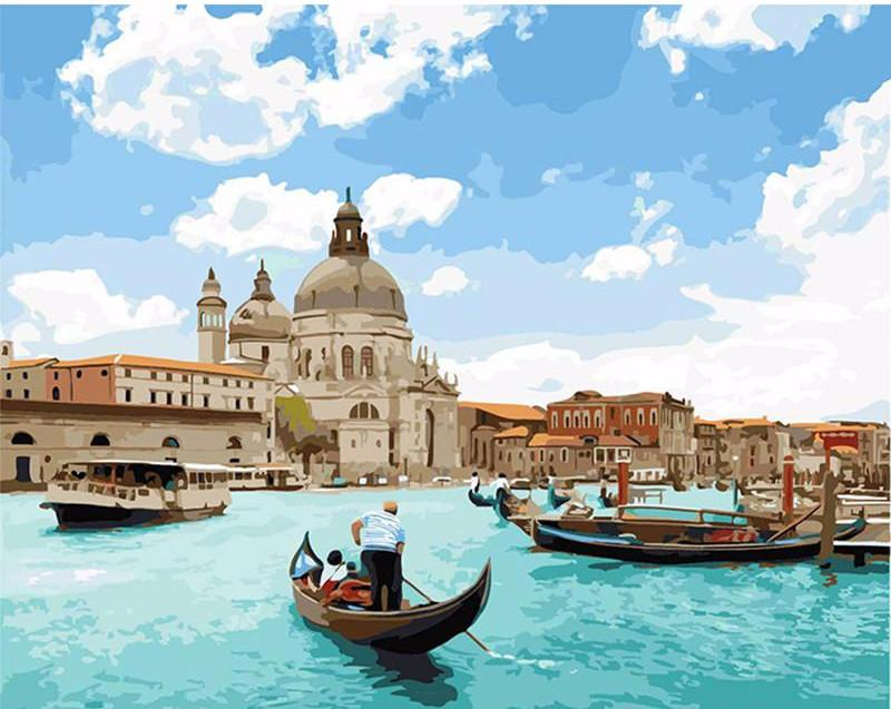 "DIY Painting By Numbers - Venice Seascape (16""x20"" / 40x50cm)"