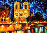 "DIY Painting By Numbers - Notre Dame de Paris (16""x20"" / 40x50cm)"