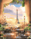 "DIY Painting By Numbers -  Eiffel Tower(16""x20"" / 40x50cm)"