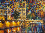 "DIY Painting By Numbers - Notre Dame Cathedral de Paris (16""x20"" / 40x50cm)"