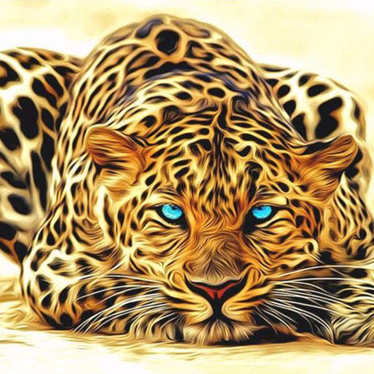 "DIY Painting By Numbers -  Leopard (16""x20"" / 40x50cm)"