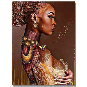 "DIY Painting By Numbers - African Woman(16""x20"" / 40x50cm)"