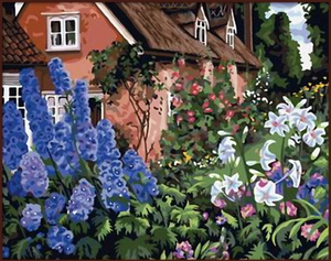 "DIY Painting By Numbers -Garden With Flower (16""x20"" / 40x50cm)"