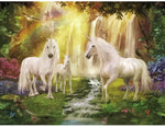 "DIY Painting By Numbers -Unicorns  (16""x20"" / 40x50cm)"