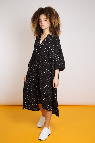 Loose Fit Polka Dot Dress
