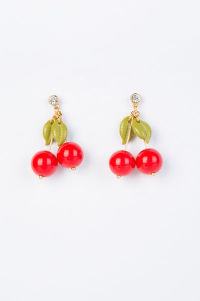 Cherry Pendant Earrings
